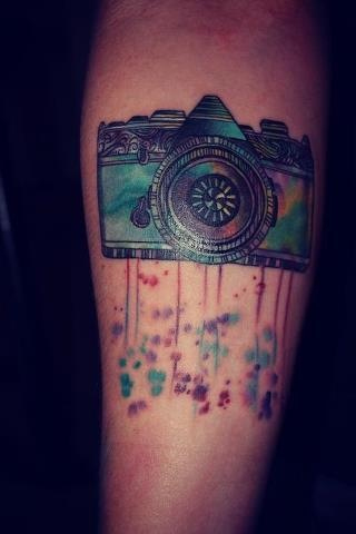 Classic Vintage Camera Tattoo Design