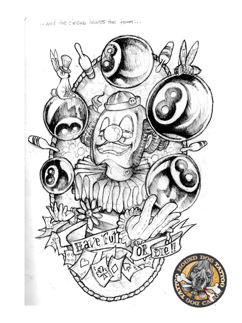 Clown Tattoos Designs And Ideas Page 39