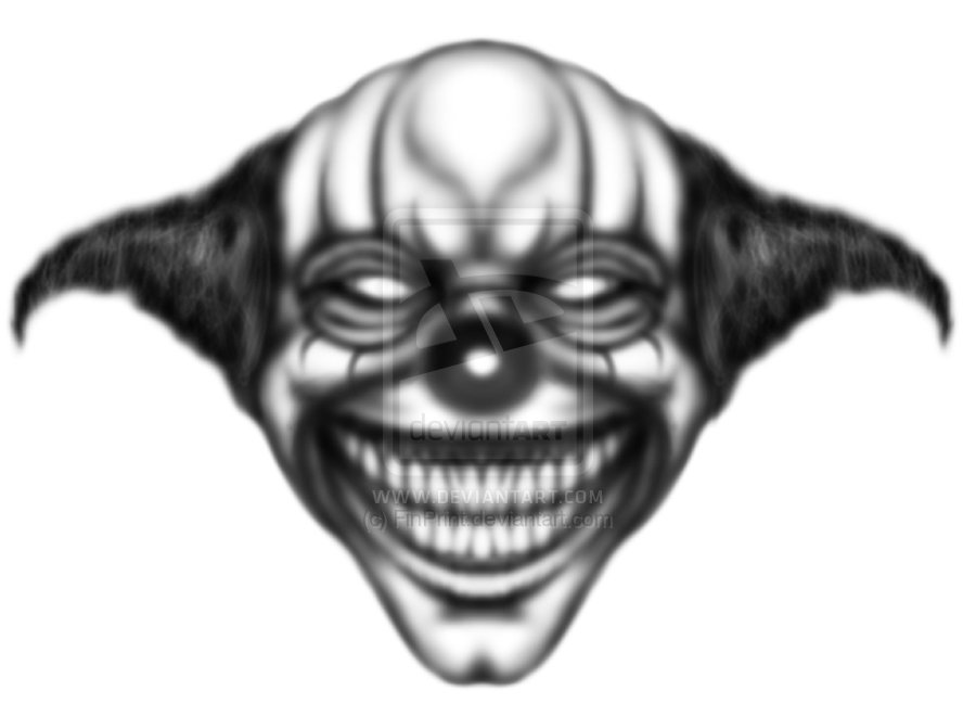 Clown Printable Tattoo Design