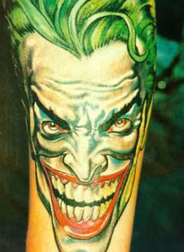 Comic Clown Tattoo