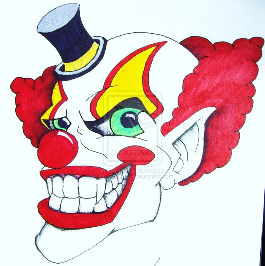 Crazy Clown Drawings Images amp Pictures Becuo