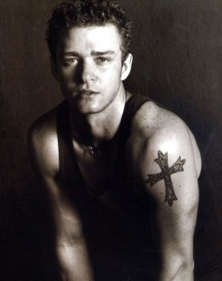 Cross Tattoo On Justin Timberlake Shoulder