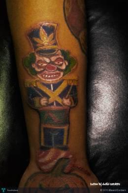Custom Clown Tattoo