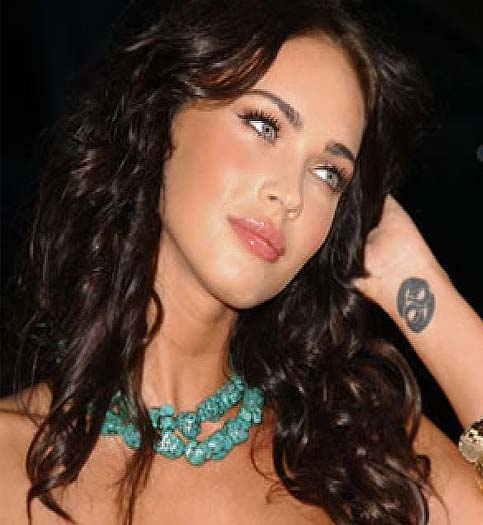 Cute Cancer Sign Tattoo On Megan Fox Wrist