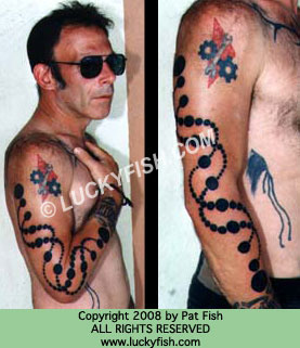 DNA Crop Circle Tattoo Design For Men