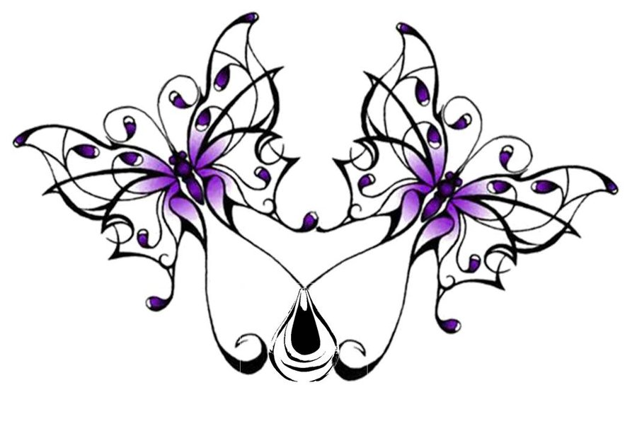 Double Butterfly Tattoo Design