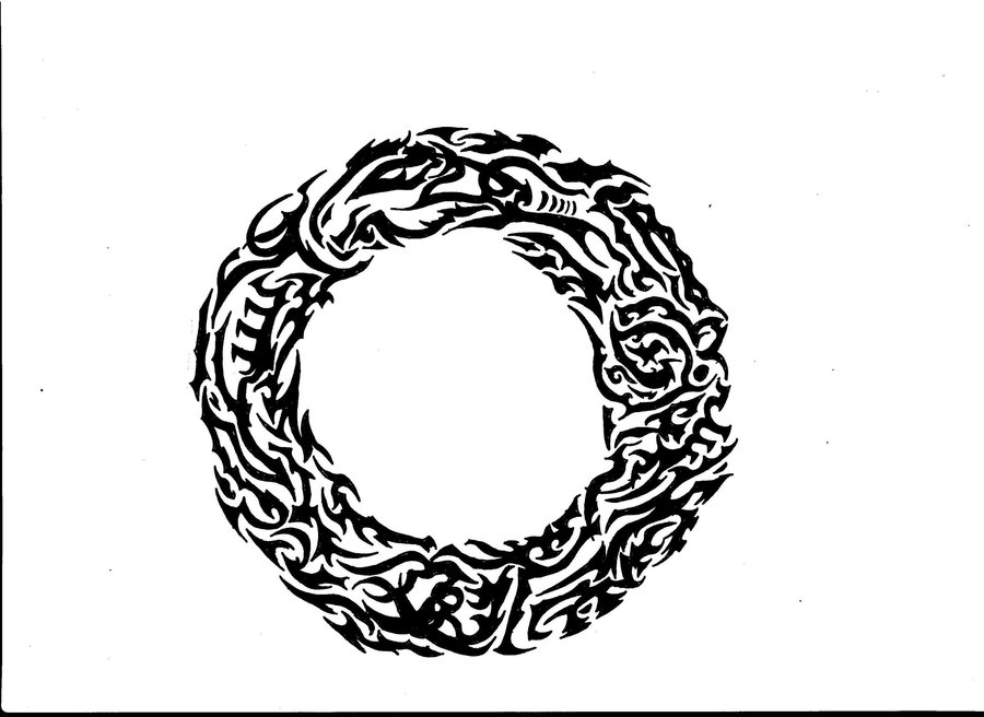 Dragon Circle Tattoo Design
