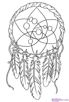 Dreamcatcher Circle Tattoo Design
