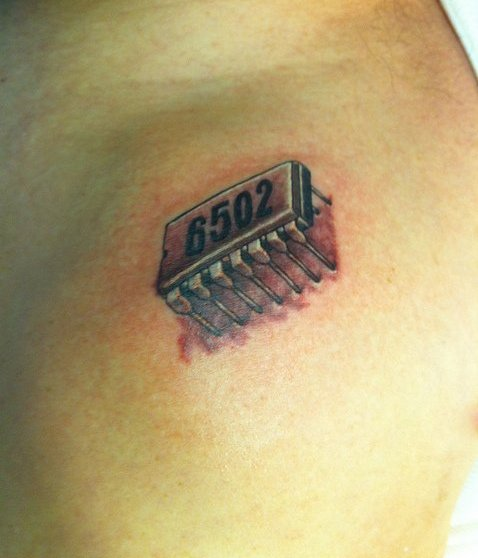 Electronic Chip Tattoo