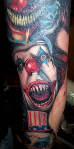 Evil Clown Tattoo
