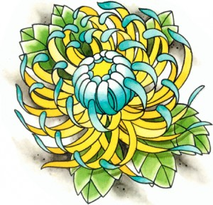 Fantastic Chrysanthemum Tattoo Design