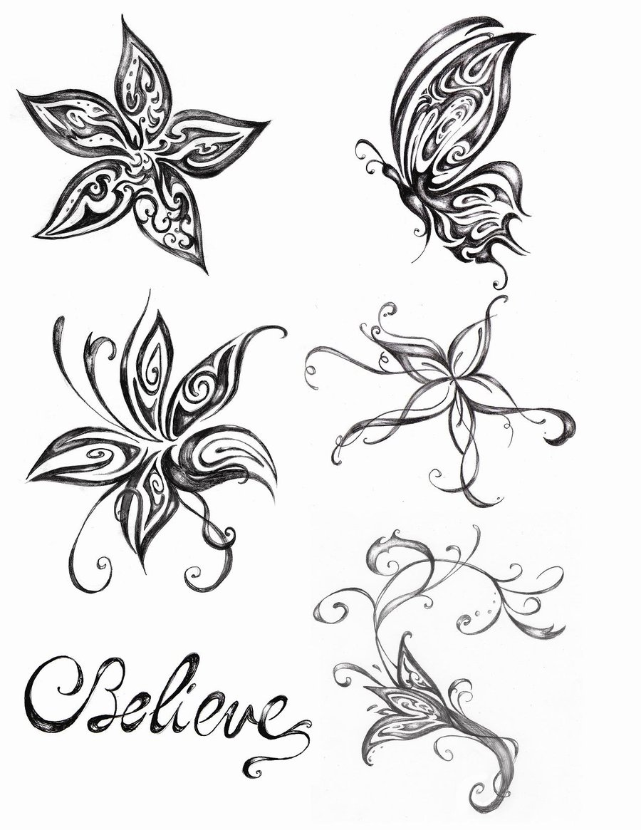 Butterfly Tattoo Drawings Images amp Pictures Becuo