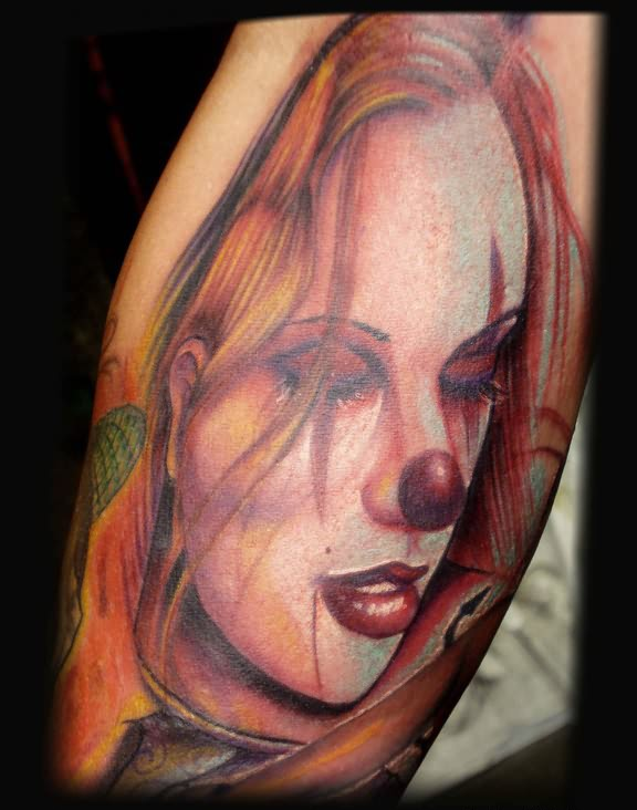 Girl Clown Gangsta Tattoo
