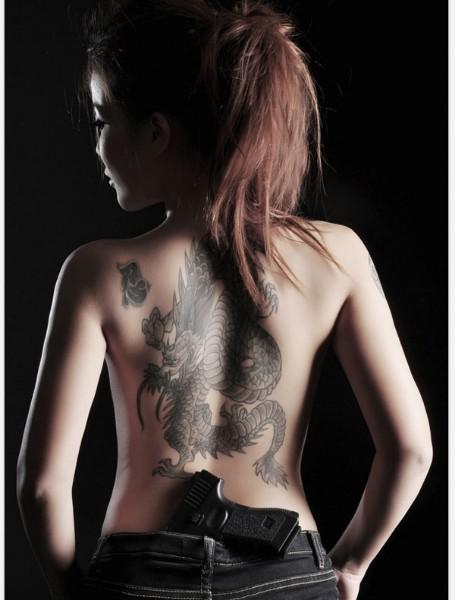 Girl With A Chinese Dragon Tattoo