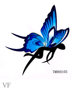 Girly Butterfly Tattoo Design