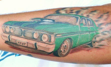 Green Car Tattoo