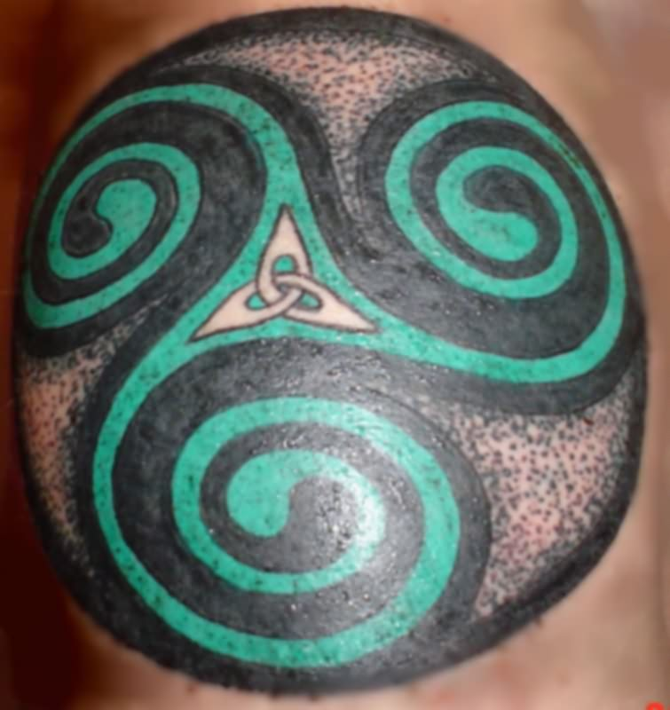 Green Celtic Circle Tattoo