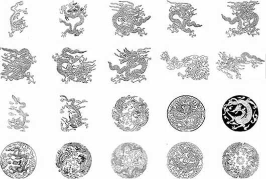 Grey Ink Chinese Dragon Tattoo Designs