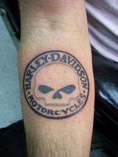 Harley Davidson Circle Tattoo Design