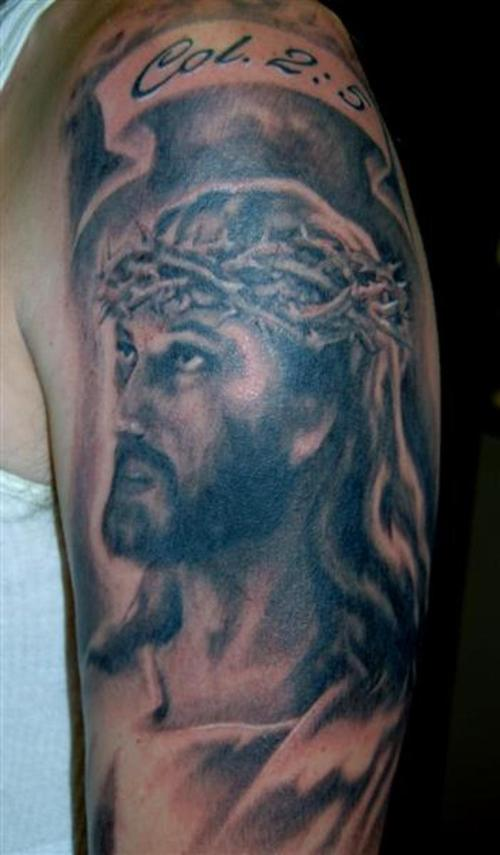 Holy Christian Tattoo On Arm