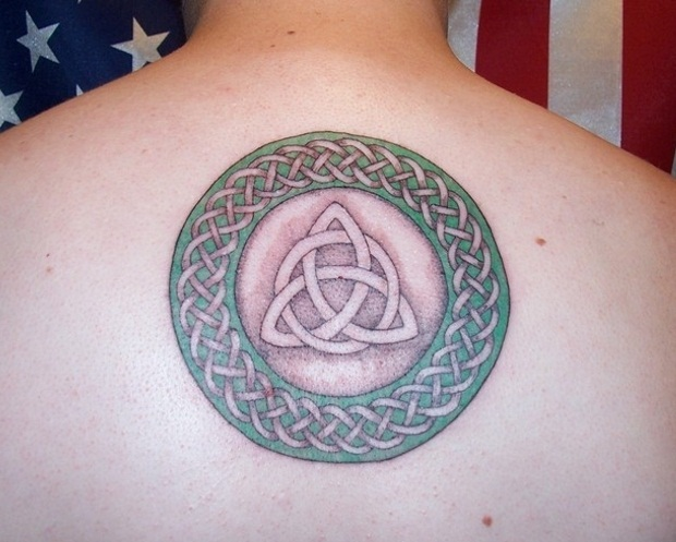 Interesting Pattern Circle & Triangle Celtic Tattoo