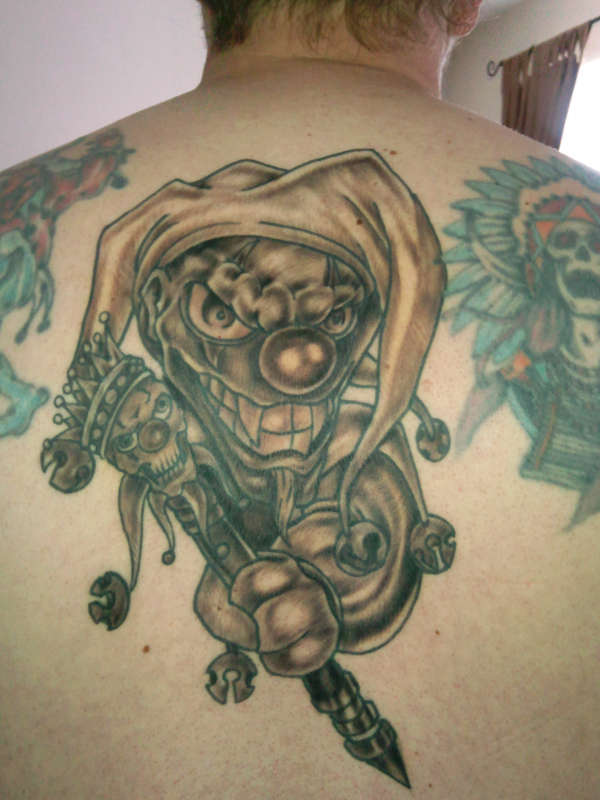 Jester Clown Tattoo On Back