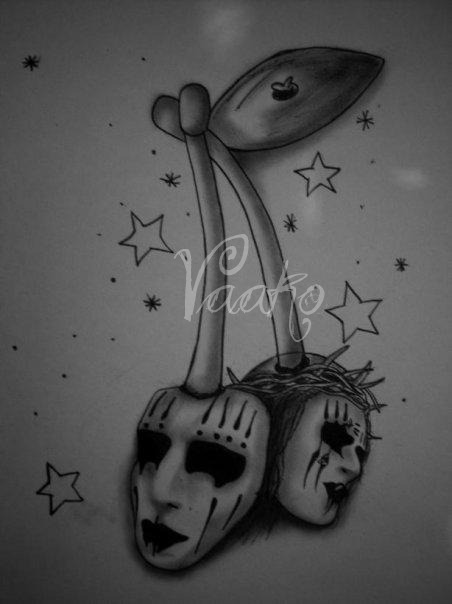 Joey Jordison Cherry Tattoo Design
