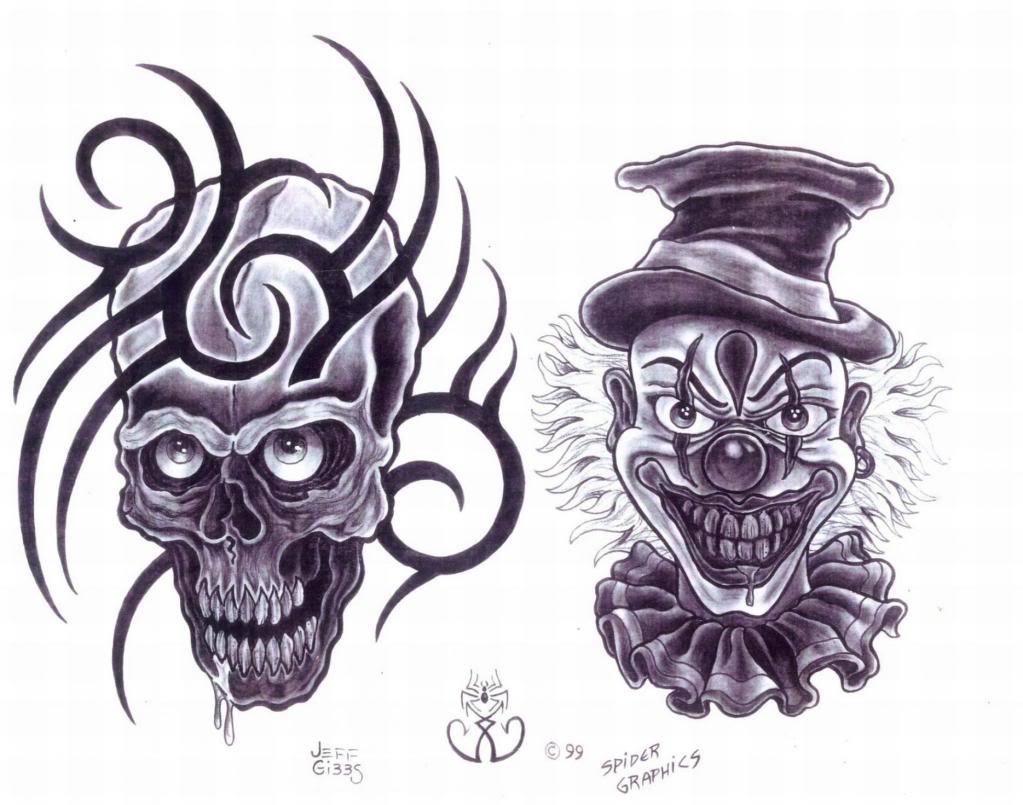 Killer Clown Tattoo Designs Killer Clown Tattoo Designs