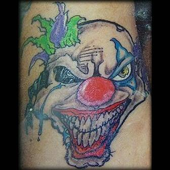 Loon Clown Tattoos Deisgn