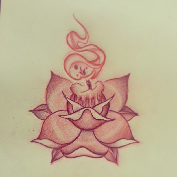 Candle Tattoos Designs And Ideas Page 24