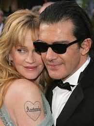 Love Heart Tattoo On Celebrity Shoulder