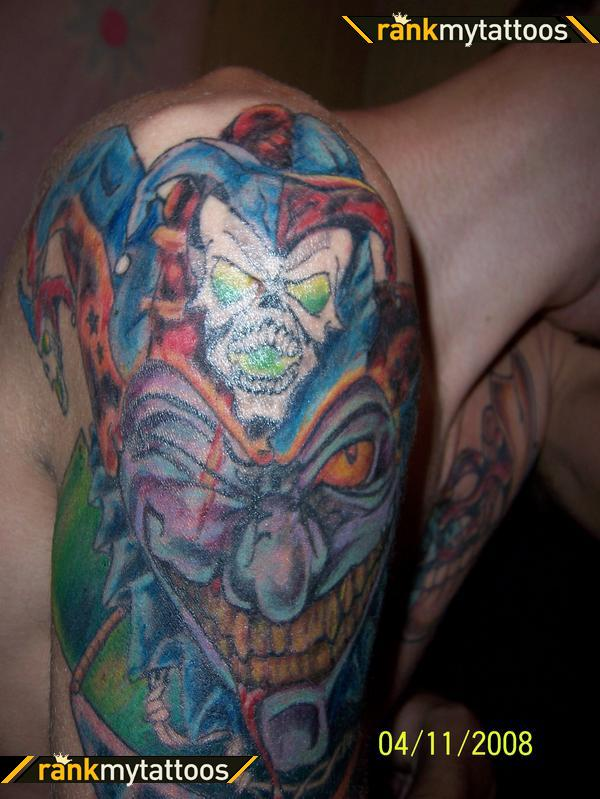 Majestic Evil Clown Tattoo Design For Men