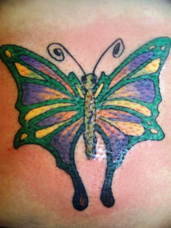 Melting Butterfly Tattoo Design