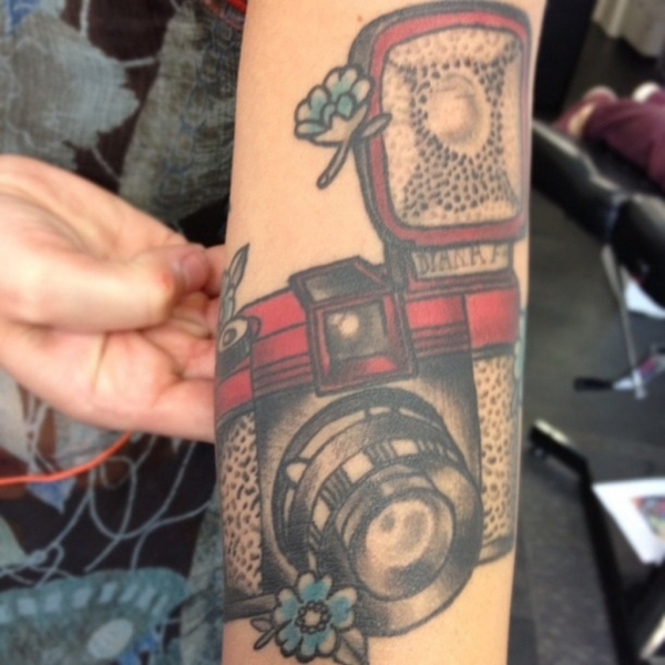 Mind Blowing Camera Tattoo