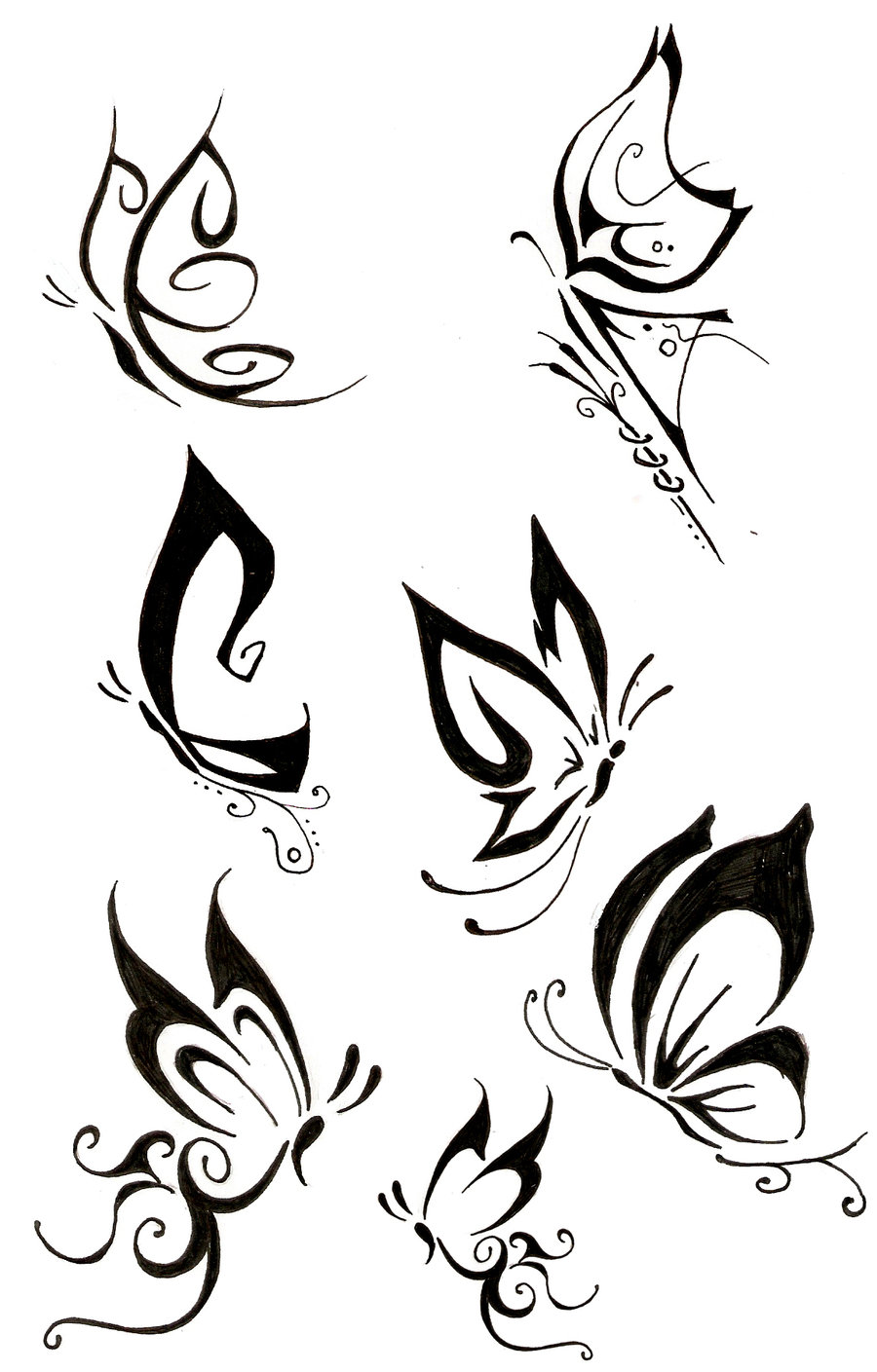 tattoo designs tribal Designs Tattoo Tattoobite.com Butterfly Tribal More