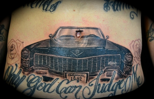 Only God Can Judge Me Car Tattoo Design
