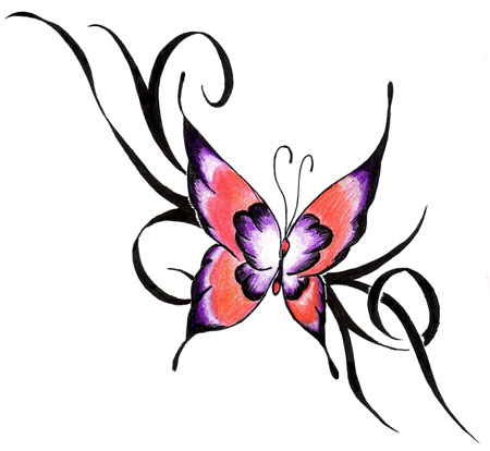 Outstanding Butterfly Tattoo Picture