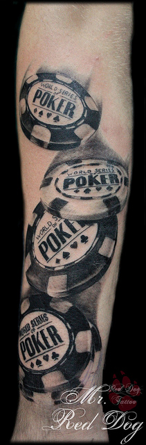 poker chip tattoo