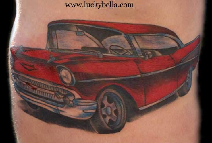 Red Car Tattoo
