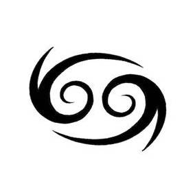 Simple Cancer Symbol Tattoo Design