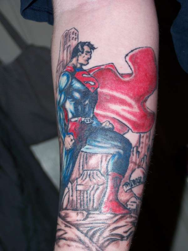 Superman Cartoon Tattoo