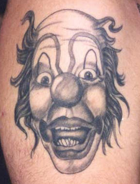 Surprised Clown Tattoo
