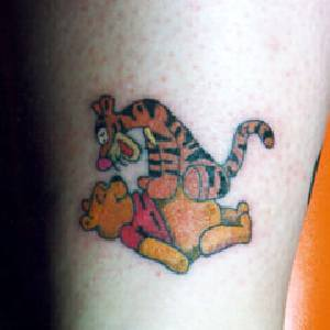 Tigger & Winnie Cartoon Tattoo