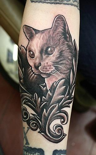 Ultimate Cat Tattoo Design On Arm
