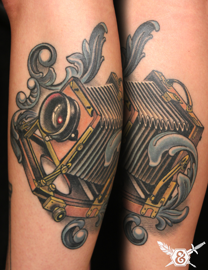 Vintage Camera Tattoo Design
