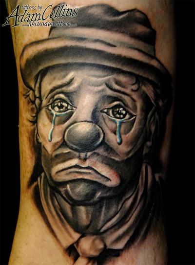 Weeping Clown Tattoo Design