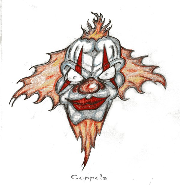 Wicked Clown Tattoo Design