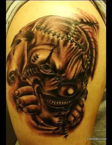 Wicked Clown Tattoo Image