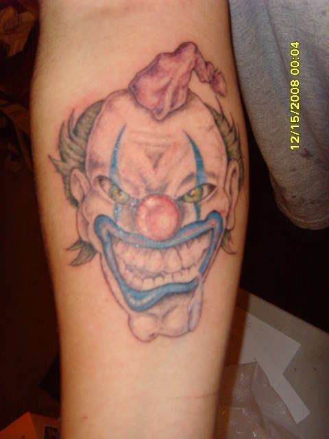Wicked Clown Tattoo On Arm