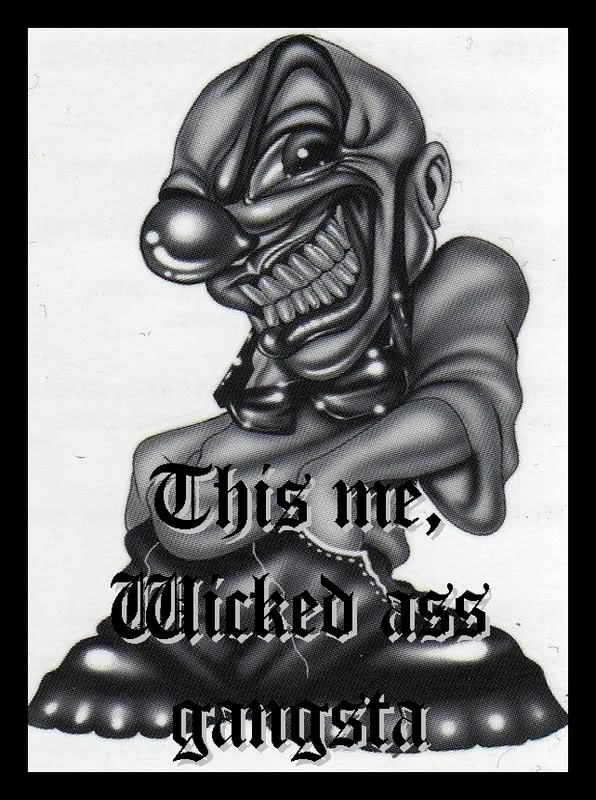 Wicked Clown Tattoo Picture